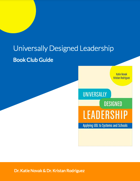 Universally Designed Leadership Book Club guide cover